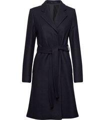 kaya coat wollen jas lange jas blauw filippa k