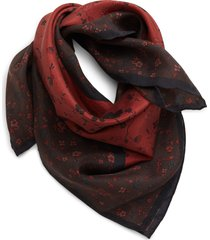 women's treasure & bond sandwash square silk scarf, size one size - red