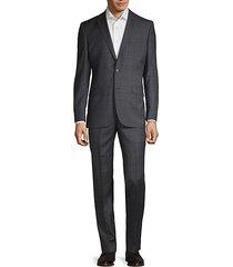 regular-fit windowpane plaid wool suit