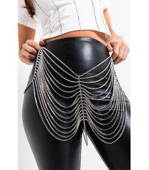 akira rich girl's dream rhinestone chain skirt