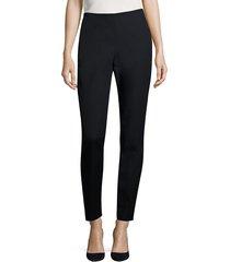 lafayette 148 new york women's jodphur cloth cortland pants - black - size xs
