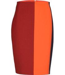 volobus knälång kjol röd boss