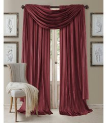 "elrene athena 52"" x 108"" window panel with scarf, set of 3"