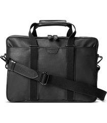 men's shinola brakeman coated canvas & leather briefcase - black