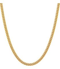 basic 18k goldplated sterling silver curb chain necklace