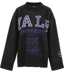 calvin klein oversize university pullover