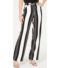 i.n.c. petite nolita-stripe wide-leg pants, created for macy's