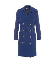 casaco feminino trench coat toronto - azul