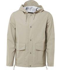 blazer rains short hooded coat