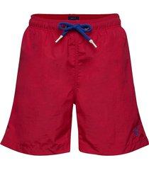 boy's basic swim shorts badshorts röd gant