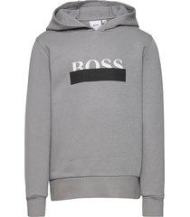 hooded sweatshirt hoodie trui grijs boss
