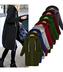 oversized hoodies sweatshirt coat pockets zip up outerwear hooded jacket s-5xl