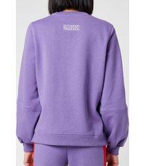ganni women's software isoli sweatshirt - deep lavender - m
