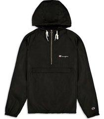 champion men's half-zip hooded jacket - navy - size s