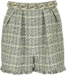 elisabetta franchi high-waisted tweed shorts