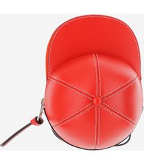 jw anderson designer handbags, red cap bag w/shoulder strap