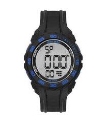 relógio digital mormaii masculino - mo18769aa8a preto