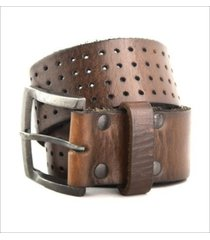 cinturon de cuero marrón bravo