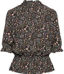 camila drapey print blouses short-sleeved gul arnie says