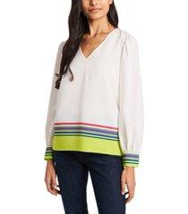 riley & rae eliza stripe blouse, created for macy's