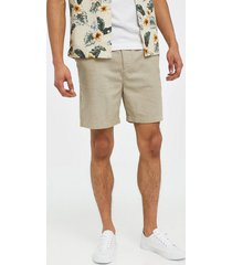 lyle & scott cotton linen walkshort shorts stone