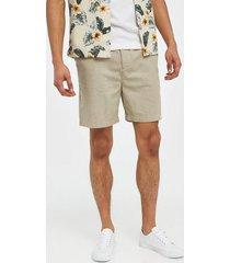 lyle & scott cotton linen walkshort shorts stone
