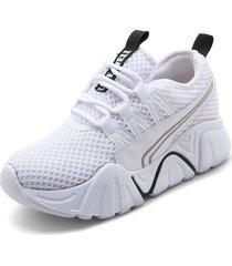 tenis moda dama sneakers tellenzi 2239- blanco