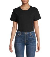 danielle bernstein women's crewneck bodysuit - black - size xs