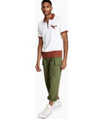 ouigi theodore men's regular-fit colorblocked airplane-print polo shirt, created for macy's