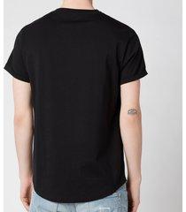 balmain men's coin flock t-shirt - black - xxl