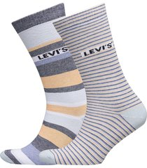 levis regular cut stripe story 2p underwear socks regular socks multi/mönstrad levi´s