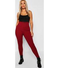 plus corrigerende leggings met hoge taille, berry