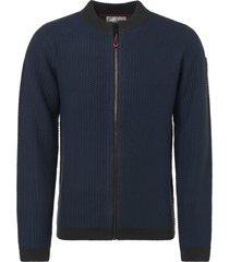 no excess pullover, full zip cardigan, 2 col shadow blue
