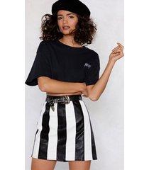 womens bah humbug striped skirt - black