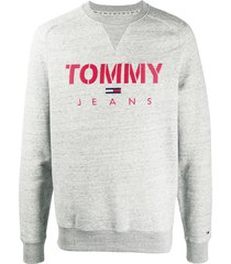 tommy jeans embroidered-logo jumper - grey