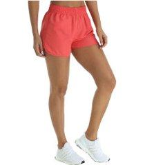 shorts oxer rum basic - feminino - coral