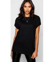 basic oversized boyfriend t-shirt, zwart
