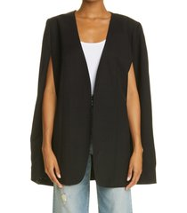 toteme women's dinner cape, size 4 us in black at nordstrom