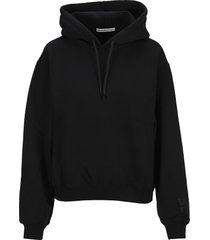 t by alexander wang logo hoodie