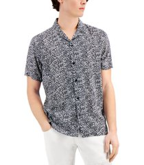 inc men's vex ditsy print shirt, created for macy's