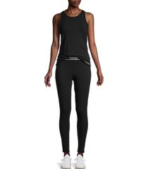 calvin klein women's 2-piece solid tank top & leggings set - shoreline - size s