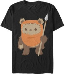 star wars men's return of the jedi cute ewok but will spear you short sleeve t-shirt