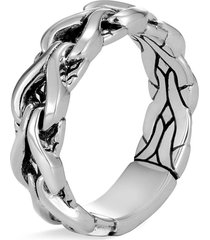 'asli classic chain' silver ring