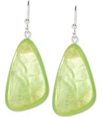 style & co colored triangular statement earrings, created for macy's