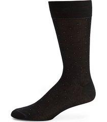 pindot mid-calf cotton-blend dress socks