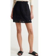 superdry women's ellison textured lace skirt