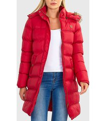 parka brave soul rojo - calce regular