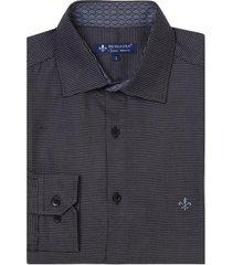 camisa dudalina manga longa fio tinto maquinetada masculina (xadrez, 7)