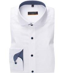 wit overhemd eterna slim fit