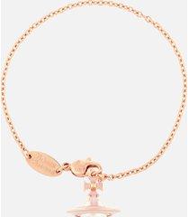 vivienne westwood women's iris orb bracelet - pink gold pearl pale pink
